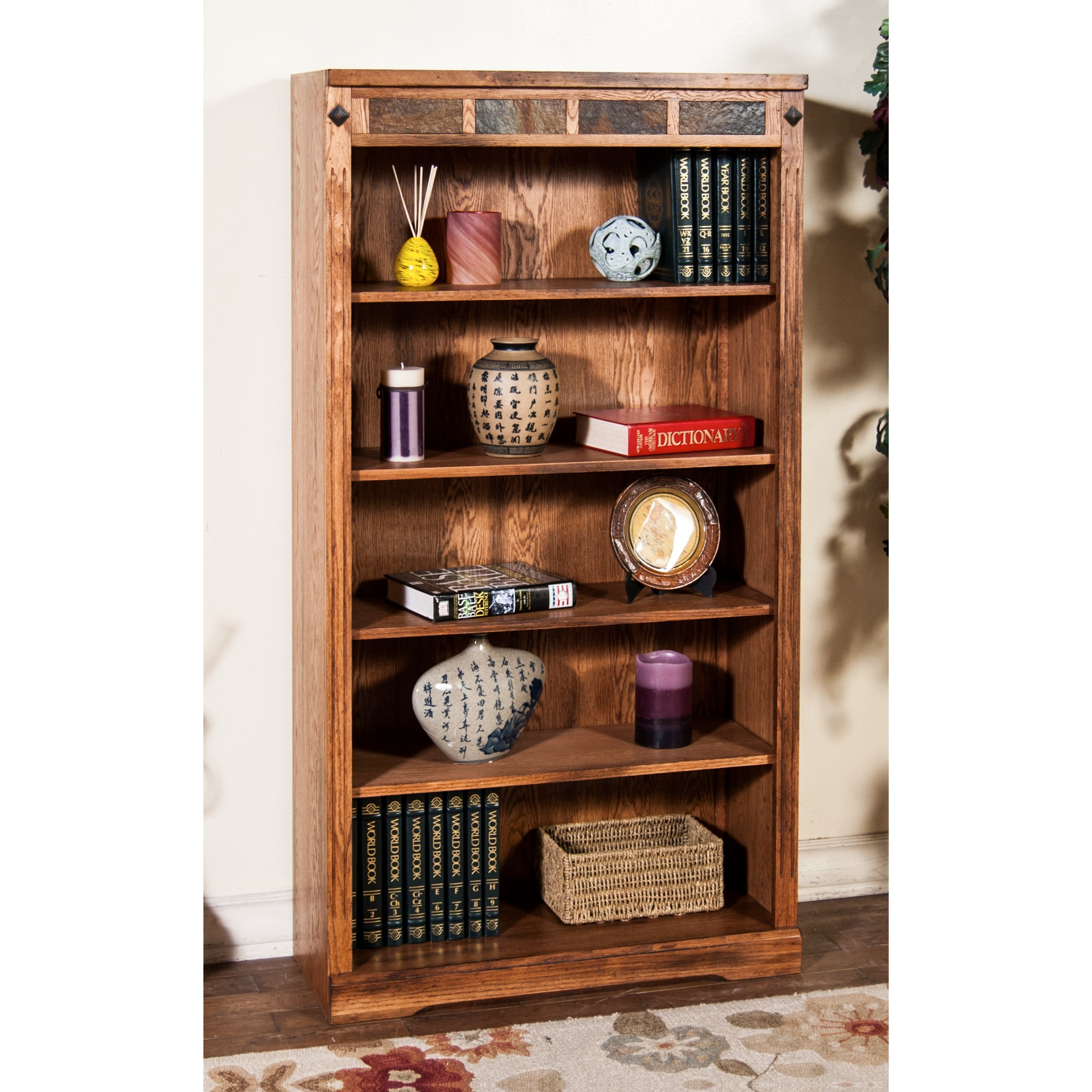 """Sedona 2 60""""H Bookcase by Sunny Designs at Sparks HomeStore"""