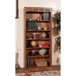 """72""""H Bookcase with Slate Tile Accents"""