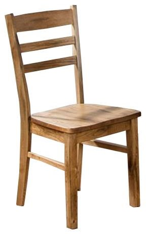 Side Chair with Wood Seat at Sadler's Home Furnishings