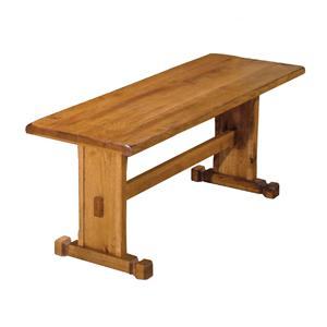 Rustic Oak Side Bench