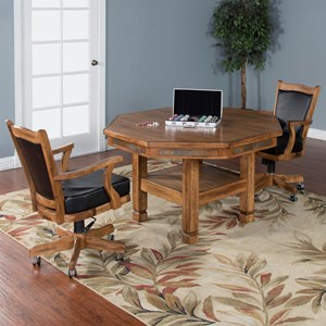 Sunny Designs Sedona 3-Piece Game & Dining Table Set