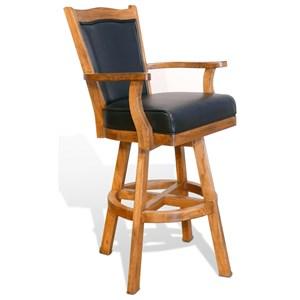 "Sunny Designs Sedona 30"" Cushionback Barstool w/ Swivel"