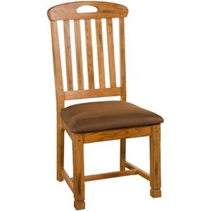 Slatback Side Chair with Cushion Seat