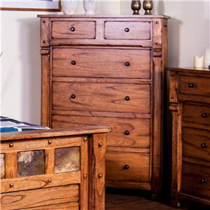 Rustic Chest with Hideaway Drawer