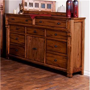 Rustic Dresser with Doors