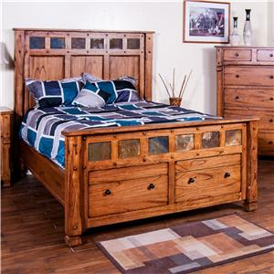 King Bed w/ Storage in Footboard