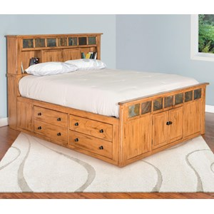 Queen Storage Bed w/ Slate