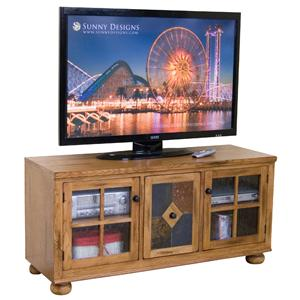 Sunny Designs Sedona TV Console w/ Combo Door Slate Panel