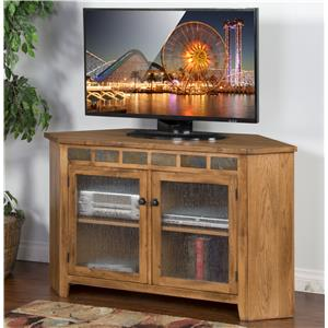 Corner TV Console w/ Slate Tiles