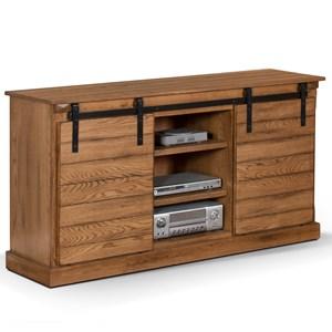 "65"" Rustic TV Console with Barn Door"