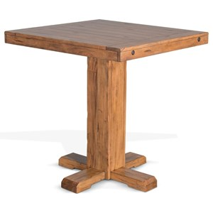 Casual Style Adjustable Height Pub Table