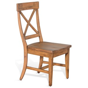 Rustic Crossback Chair with Contoured Seat