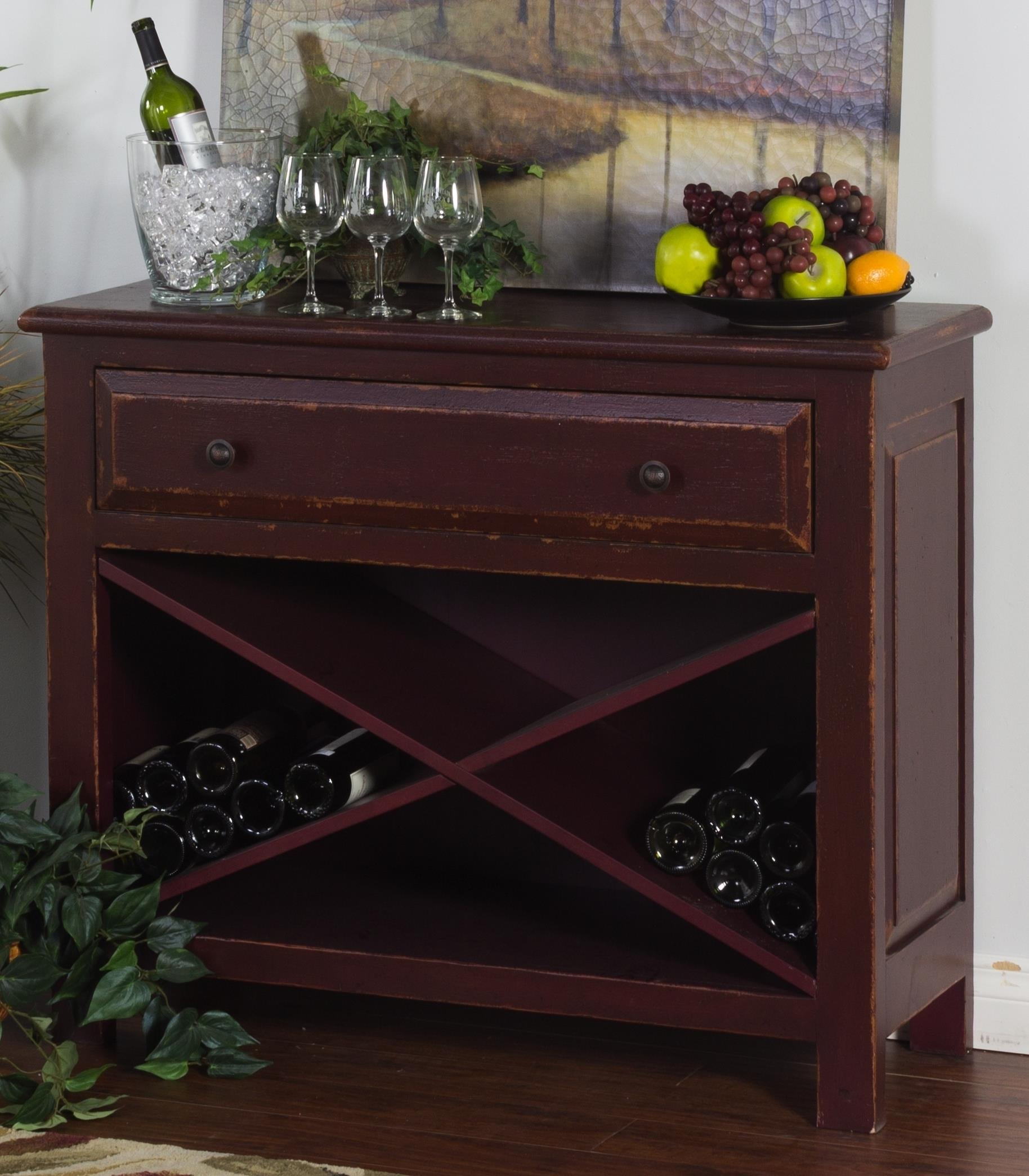 Sonoma Sonoma Accent Chest with Wine Storage by Sunny Designs at Morris Home