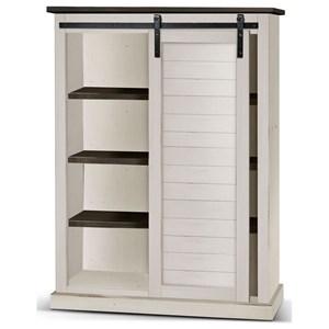 Rustic Bookcase with Sliding Barn Door