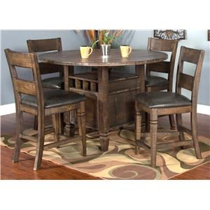 5-Piece Dining Set includes 4 Barstools