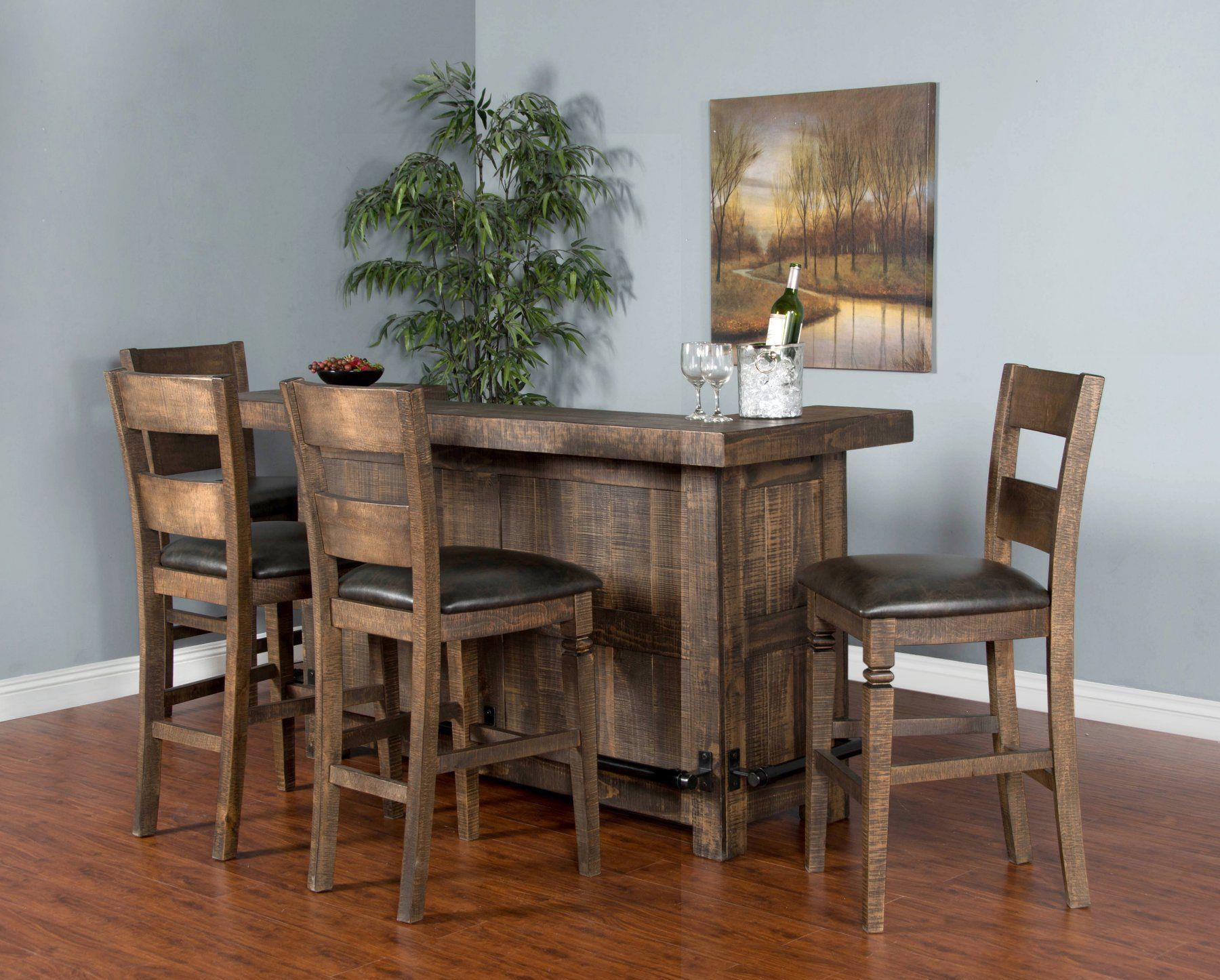 Thatcher Thatcher 4-Piece Bar Set with Bar and 2 Stoo by Sunny Designs at Morris Home