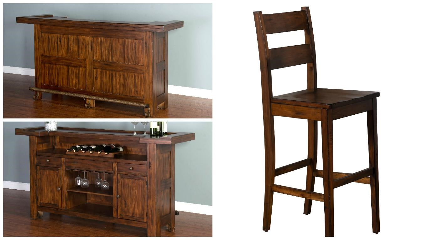 Tremont Tremont 3-Piece Bar Set by Sunny Designs at Morris Home