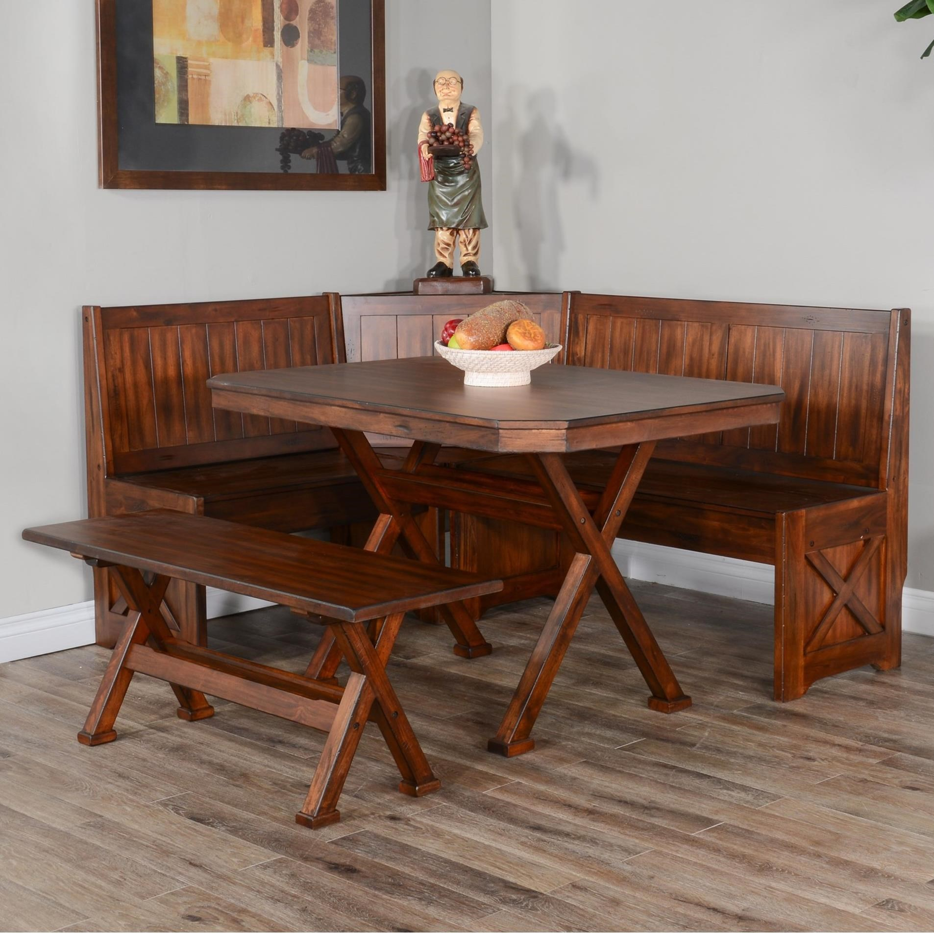 Tuscany Breakfast Nook Set by Sunny Designs at Sparks HomeStore
