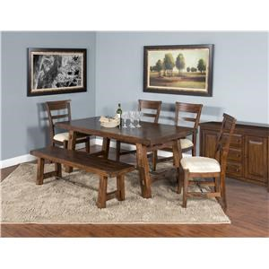 6 Piece Table / Chair Set and Bench