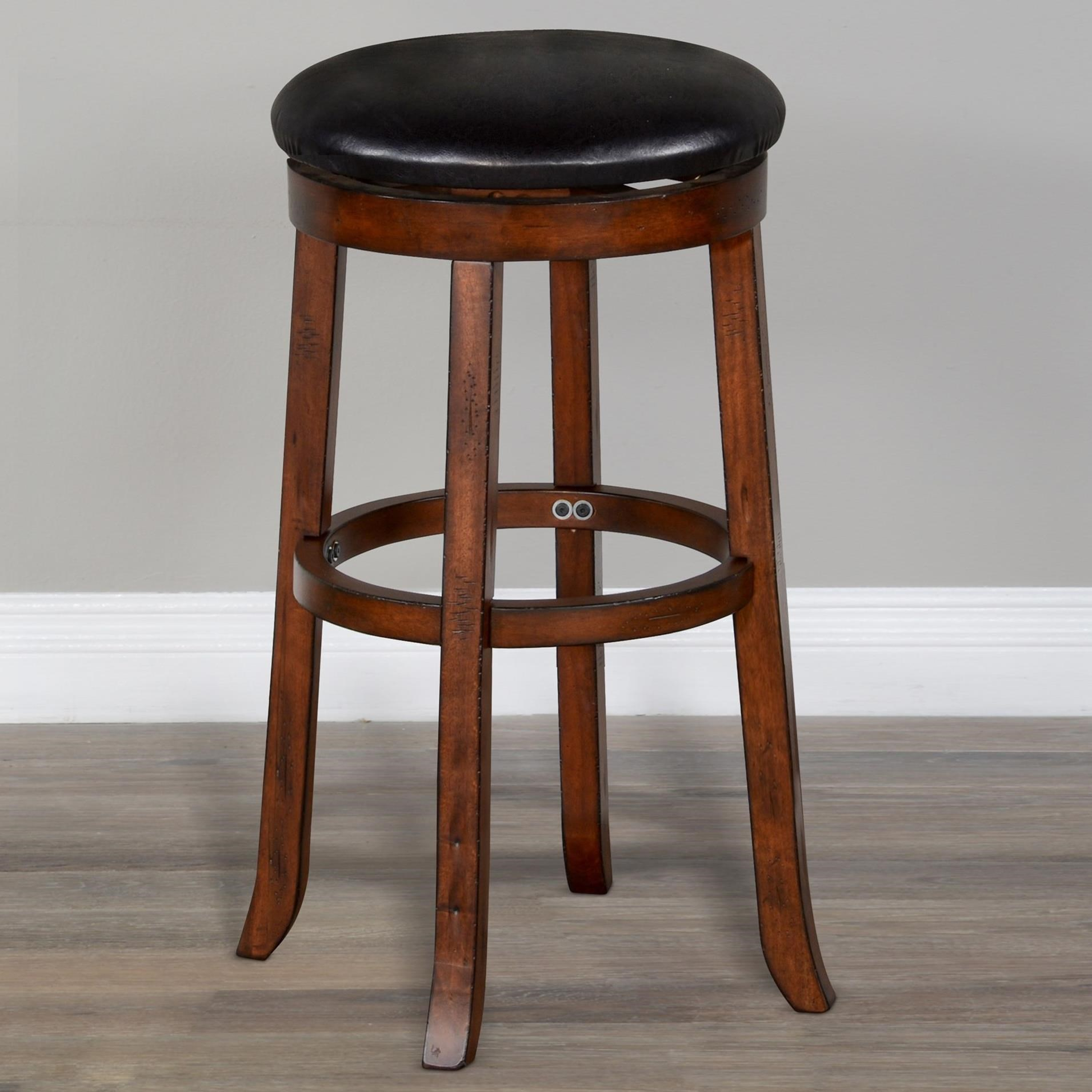 """Tuscany 30""""H Swivel Stool, Cushion Seat by Sunny Designs at Home Furnishings Direct"""