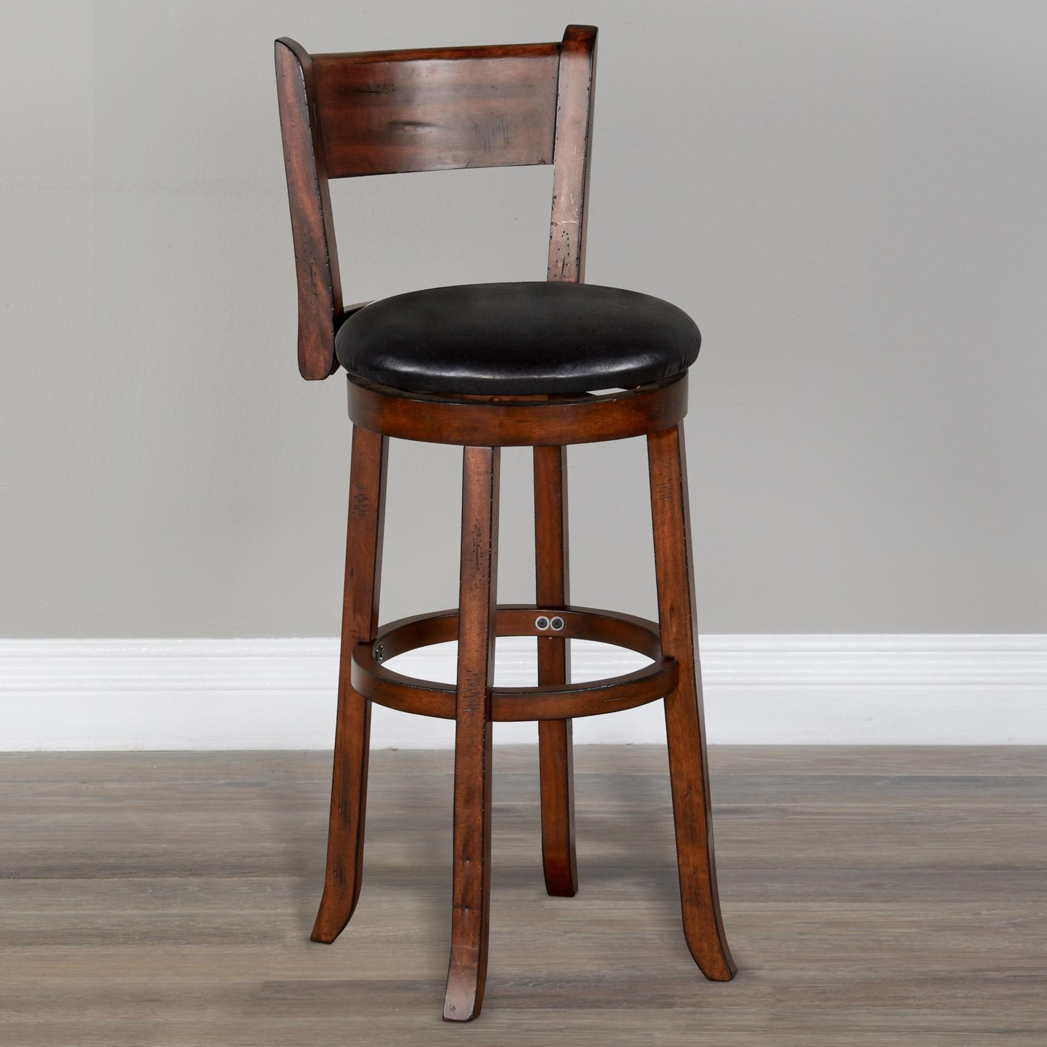 """Tuscany 30""""H Swivel Barstool, Cushion Seat & Back by Sunny Designs at Sparks HomeStore"""