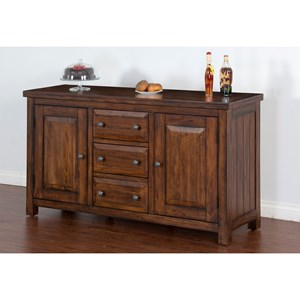 Rustic Buffet with Removable Wine Storage