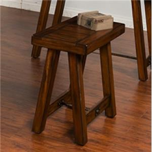 Distressed Mahogany Chair Side Table