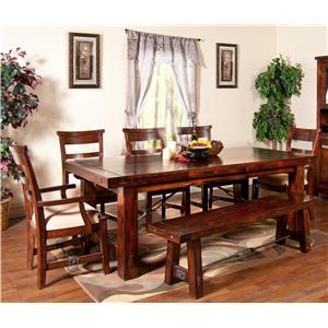 Sunny Designs Vineyard 7-Piece Extension Table Set