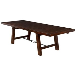 Rustic Distressed Mahogany Table with Leaf Extensions