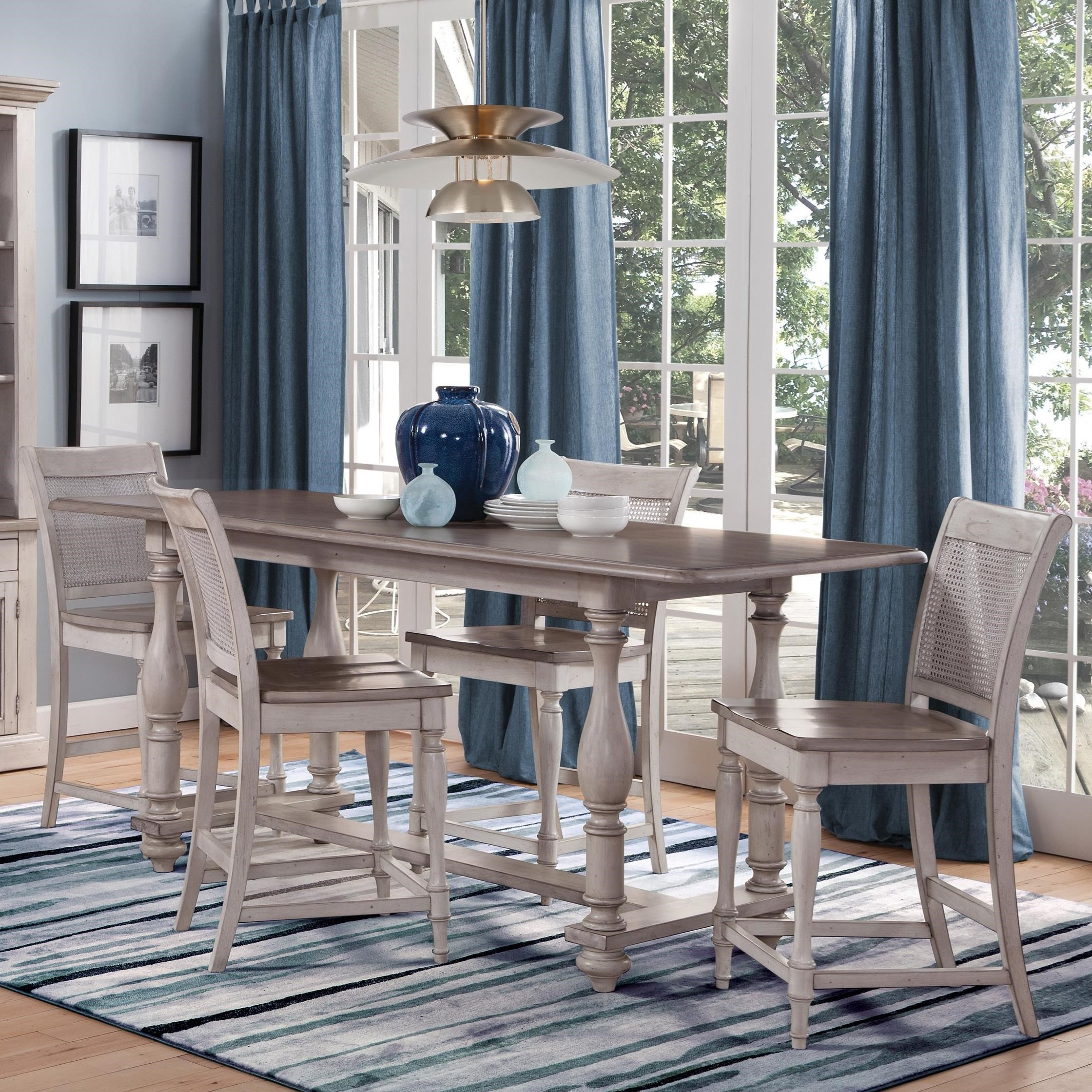 Westwood Village 5-Piece Counter Height Dining Set by Sunny Designs at Suburban Furniture