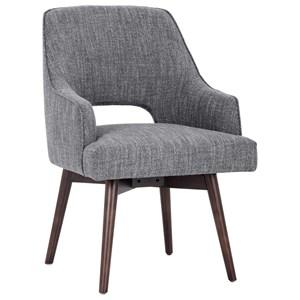 Newton Mid-Century Modern Swivel Armchair