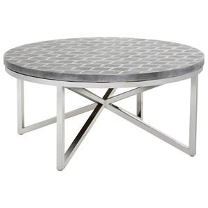 Dion Geometric Stencil Coffee Table