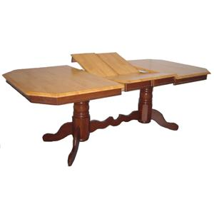 Sunset Trading Co. Sunset Selections Double Pedestal Dining Table