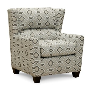 Accent Chair with Subtle Wing Back