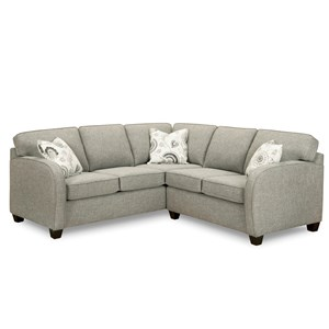 Sectional Sofa with Curved Arms