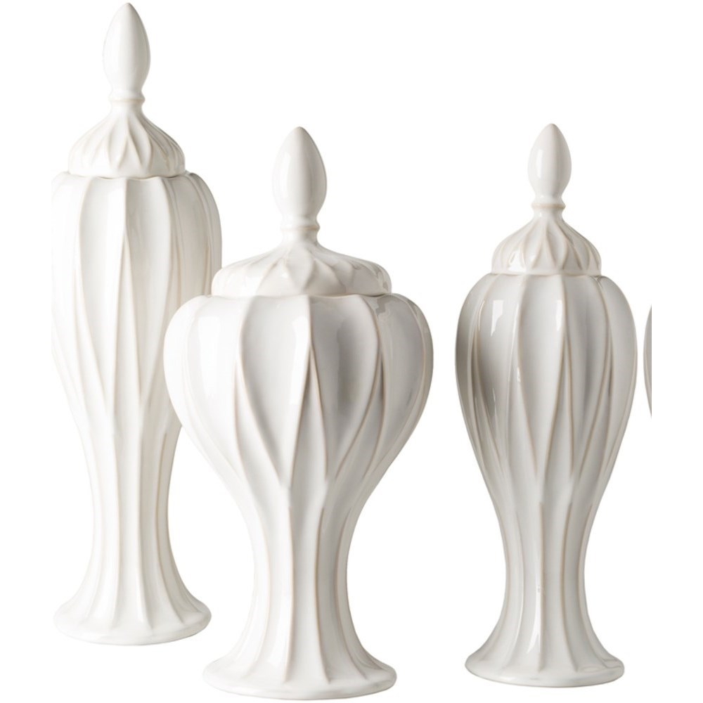 Answorth Set of Three Jars by Surya at Lynn's Furniture & Mattress