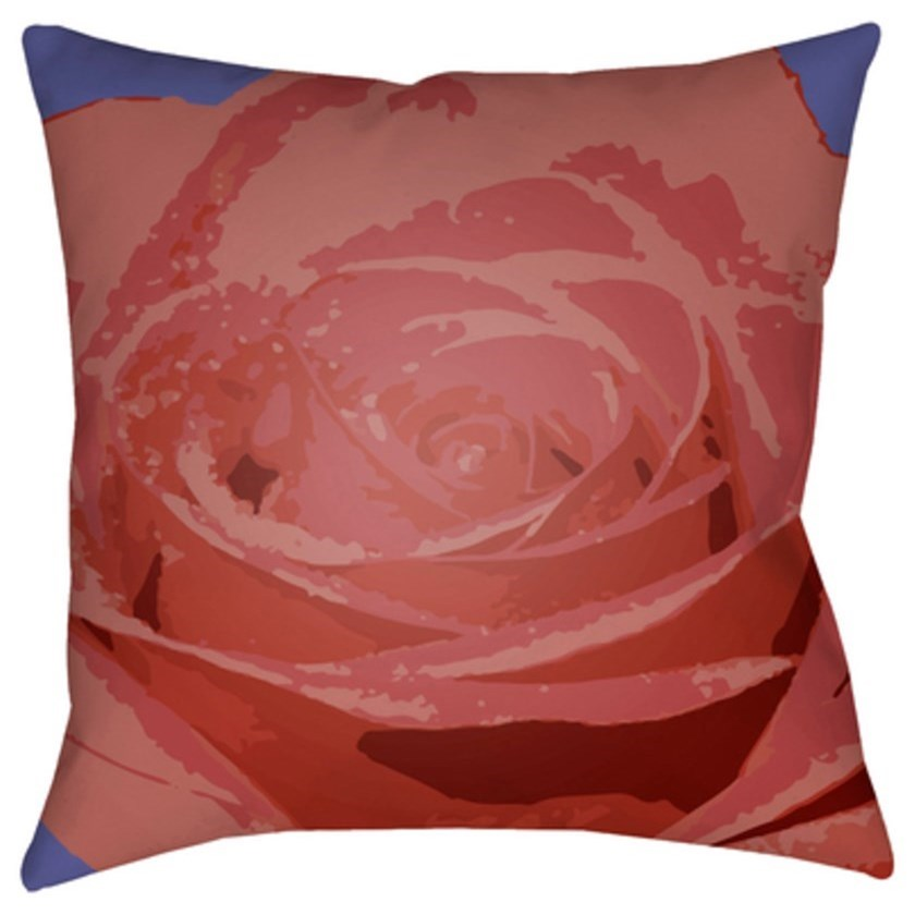 Abstract Floral Pillow by Surya at Upper Room Home Furnishings