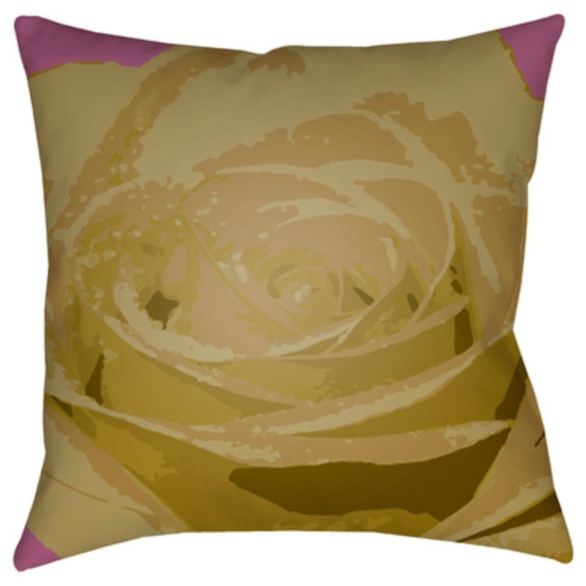 Abstract Floral Pillow by Surya at Reid's Furniture