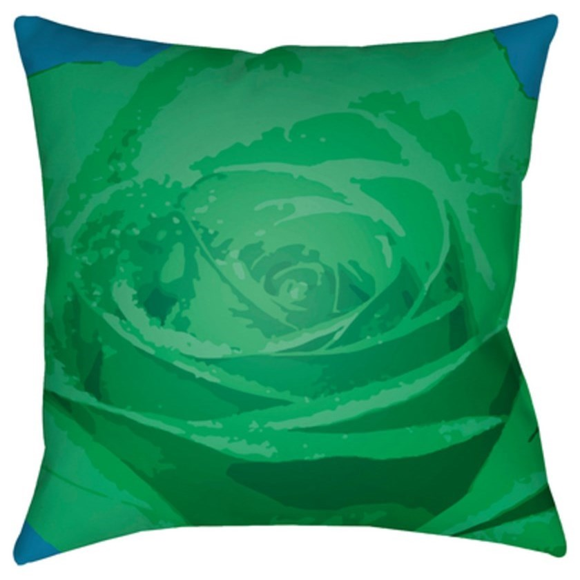 Abstract Floral Pillow by Surya at O'Dunk & O'Bright Furniture