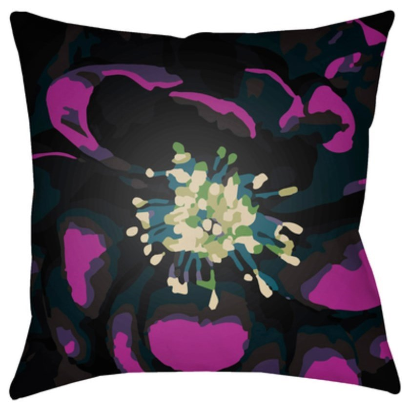Abstract Floral Pillow by Surya at Goffena Furniture & Mattress Center