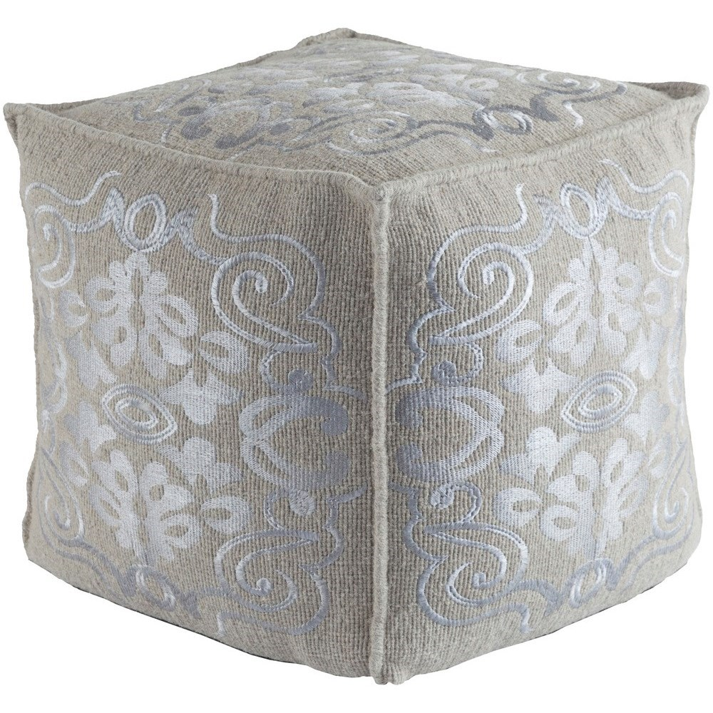 Adeline 18 x 18 x 18 Cube Pouf by 9596 at Becker Furniture