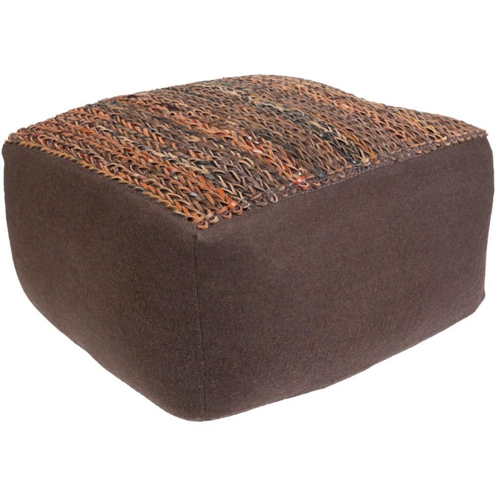 Aija Rectangle Pouf by Surya at Suburban Furniture