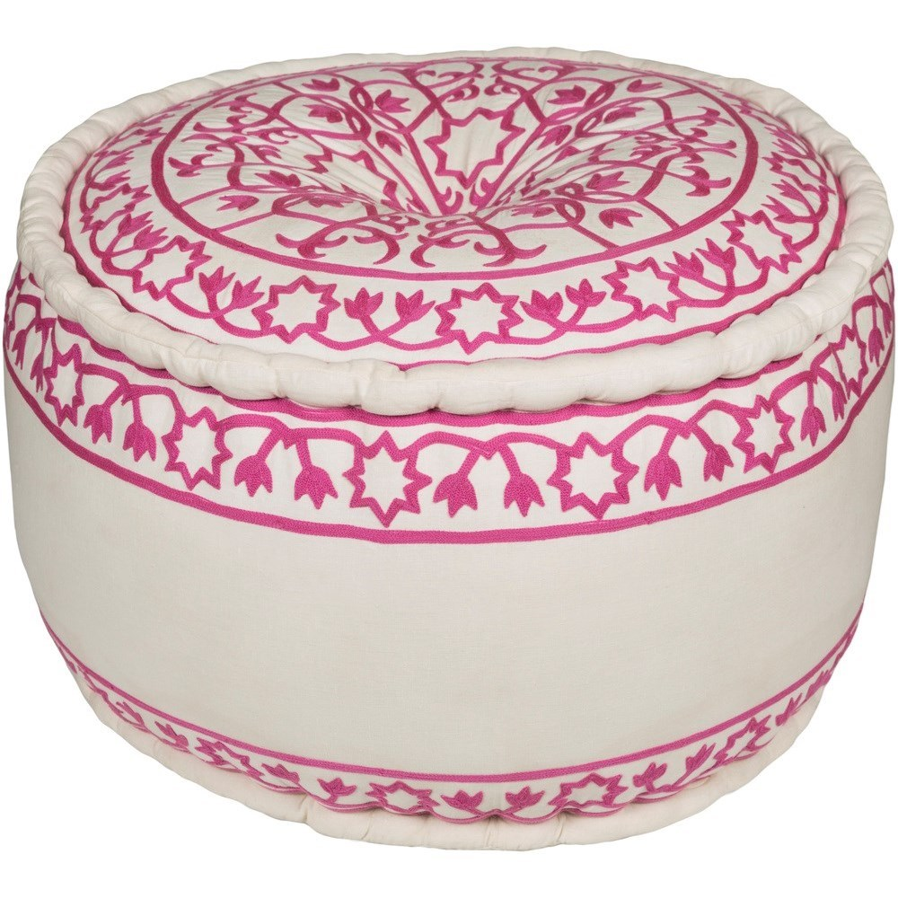 Akua 24 x 24 x 14 Cube Pouf by Surya at Rooms for Less
