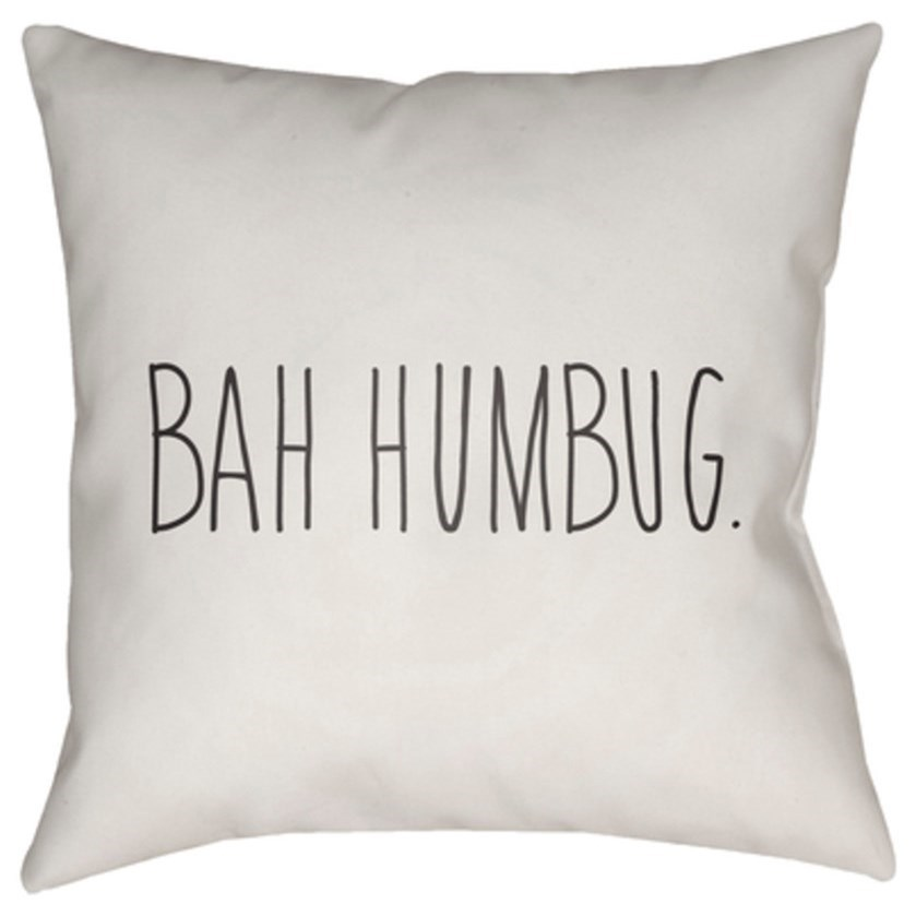 Bahhumbug Pillow by Surya at Goffena Furniture & Mattress Center