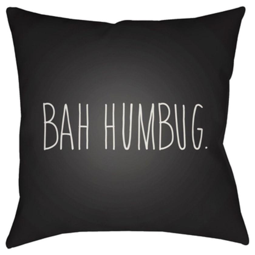 Bahhumbug Pillow by Surya at Upper Room Home Furnishings