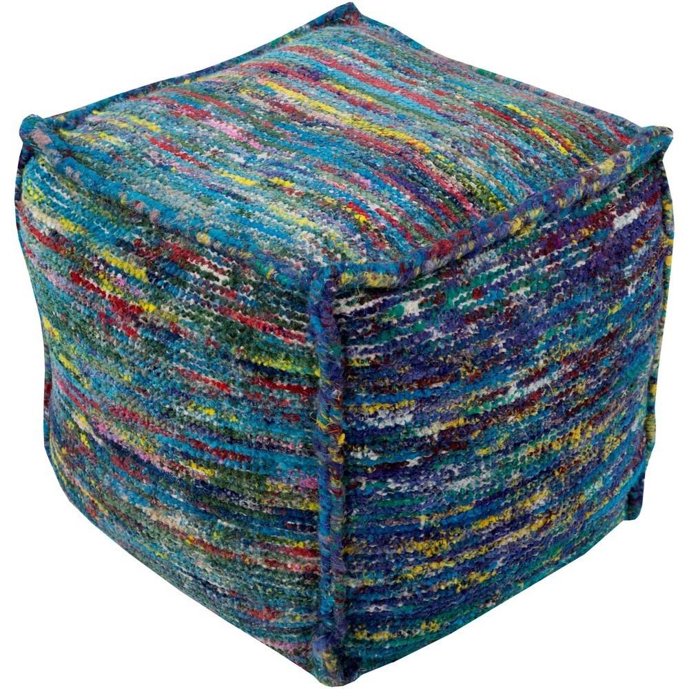 Bazaar 18 x 18 x 18 Cube Pouf by Ruby-Gordon Accents at Ruby Gordon Home