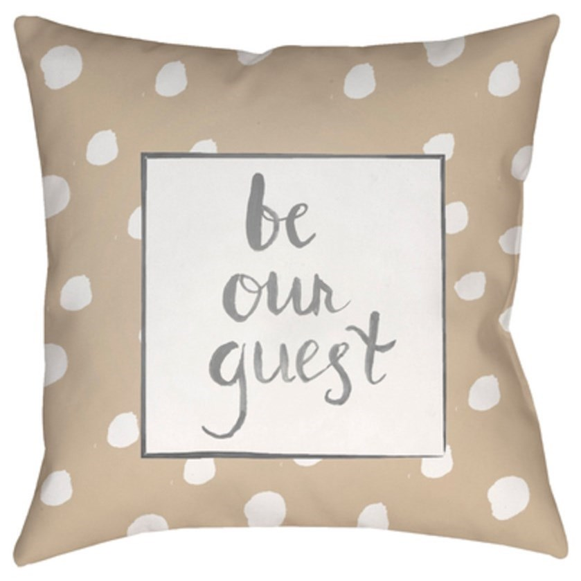 Be Our Guest Pillow by Ruby-Gordon Accents at Ruby Gordon Home