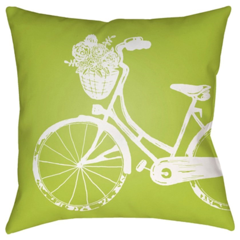 Bicycle Pillow by Surya at Michael Alan Furniture & Design