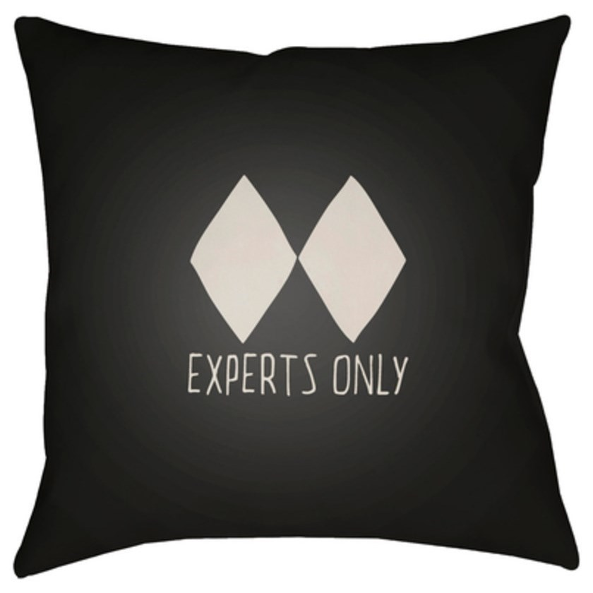 Black Diamond Pillow by Surya at SuperStore