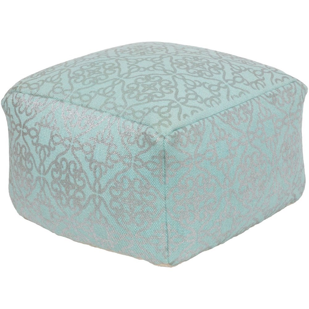 Cecily 20 x 20 x 12 Cube Pouf by Surya at SuperStore